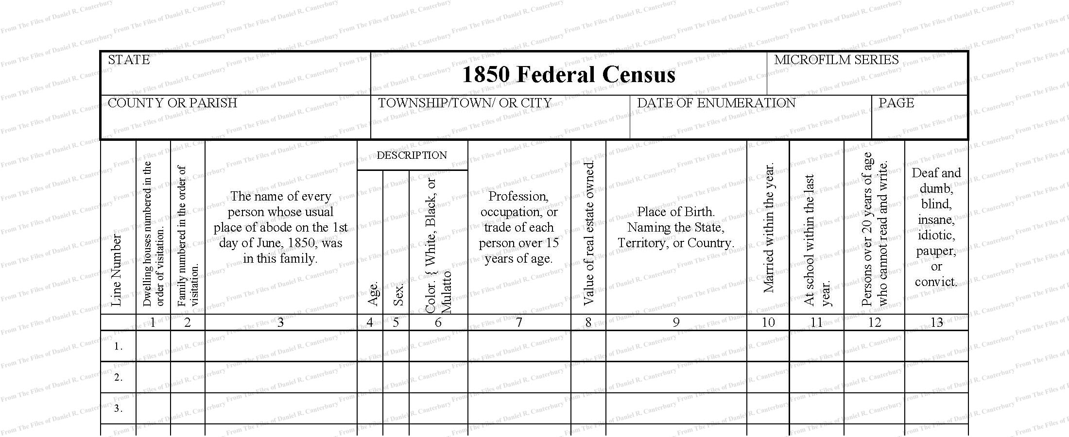Canterbury Genealogical Database